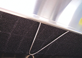 Close-up view of a prefilter